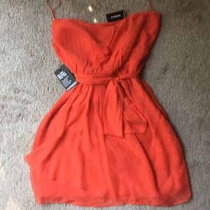 Nwt Express orange day dress size 12